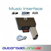 Digitales Music Interface USB SD AUX Quadlock Audi VW Seat Skoda
